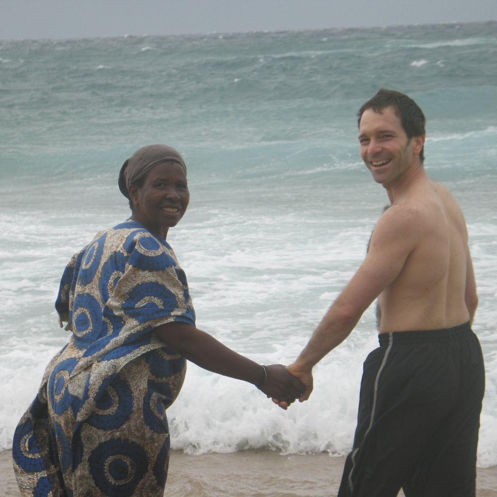 Christina Nchalinchali with Antony